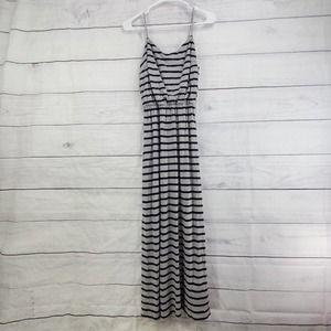 GAP Loungewear Casual Stripe Maxi Dress